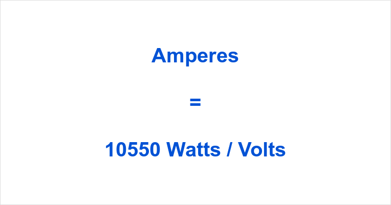 10550 Watts to Amps