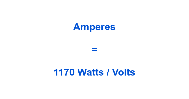 1170 Watts to Amps