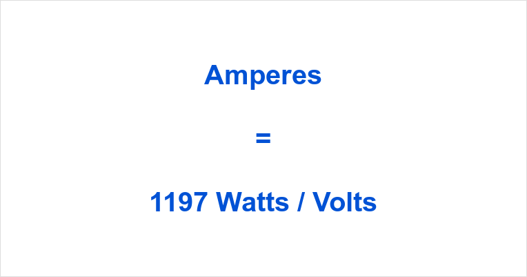 1197 Watts to Amps