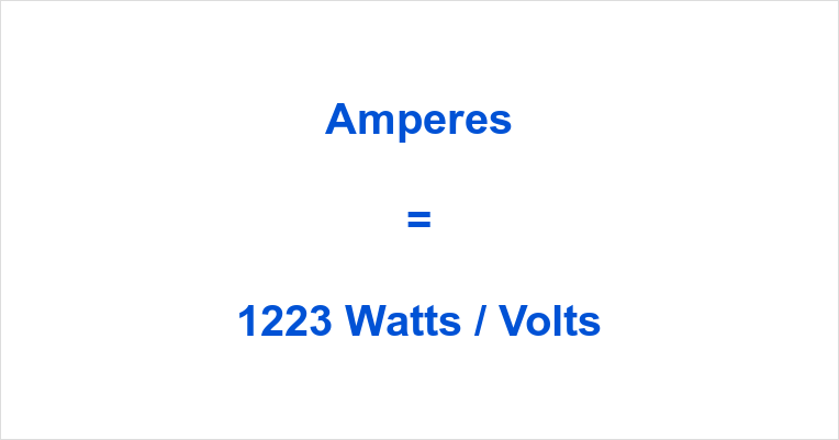 1223 Watts to Amps