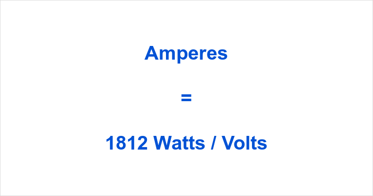 1812 Watts to Amps
