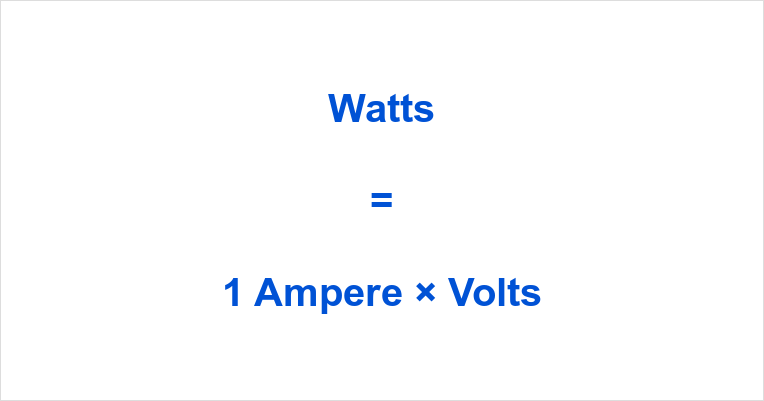1 Amp to Watts