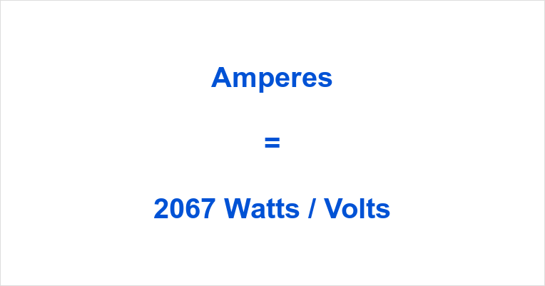 2067 Watts to Amps