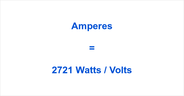 2721 Watts to Amps