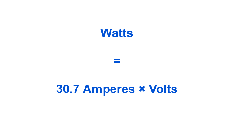 30.7 Amps to Watts
