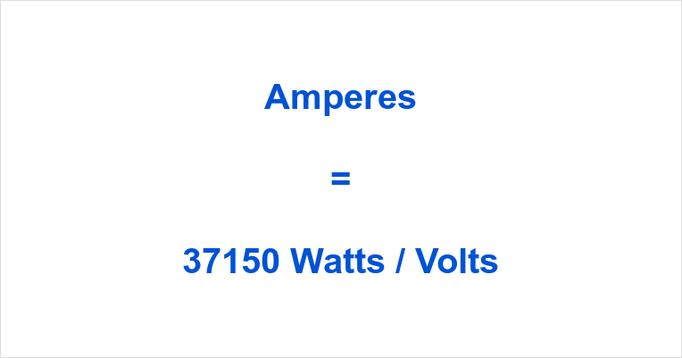 37150 Watts to Amps