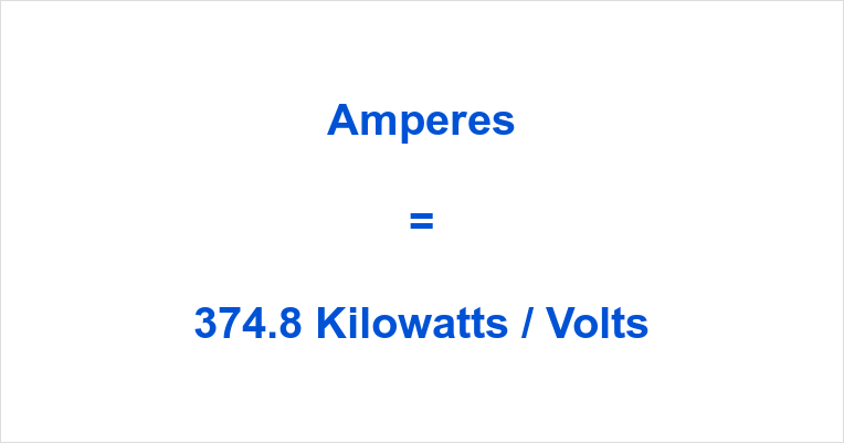 374.8 kW to Amps