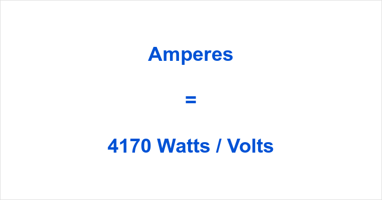 4170 Watts to Amps