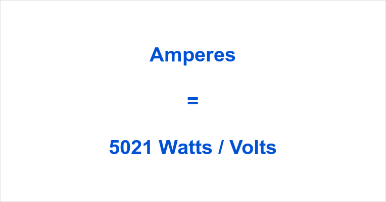 5021 Watts to Amps