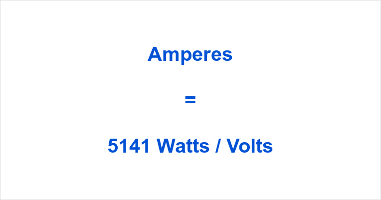 5141 Watts to Amps