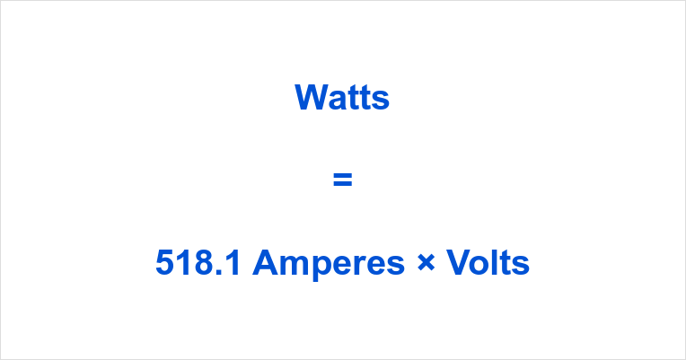 518.1 Amps to Watts