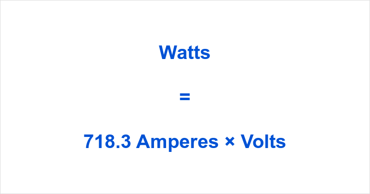 718.3 Amps to Watts