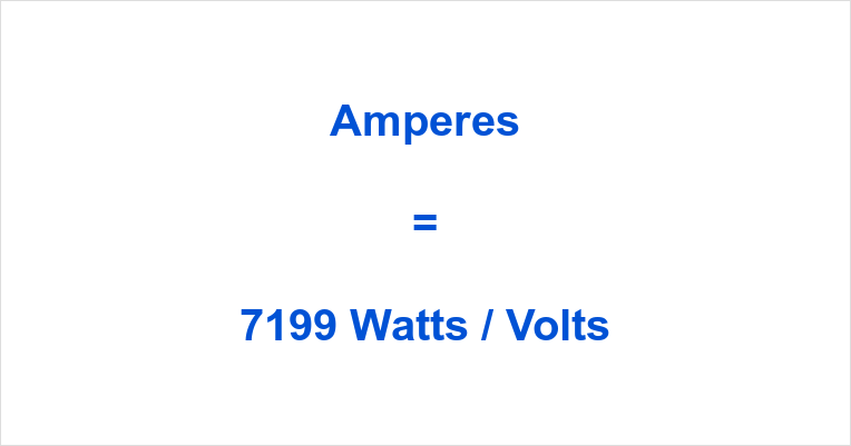 7199 Watts to Amps