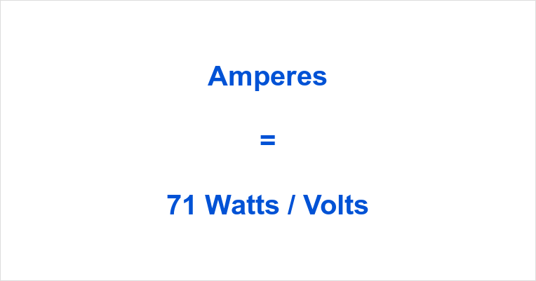 71 Watts to Amps