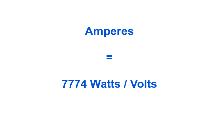 7774 Watts to Amps