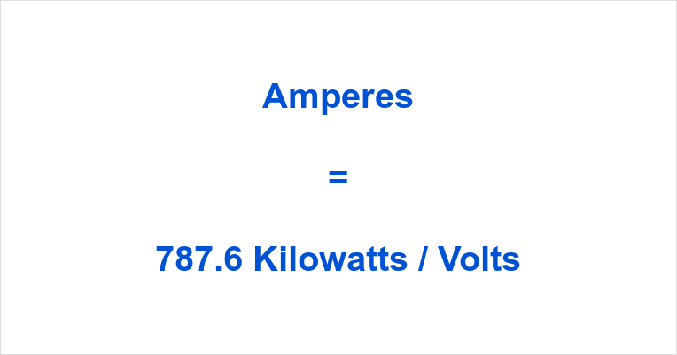 787.6 kW to Amps