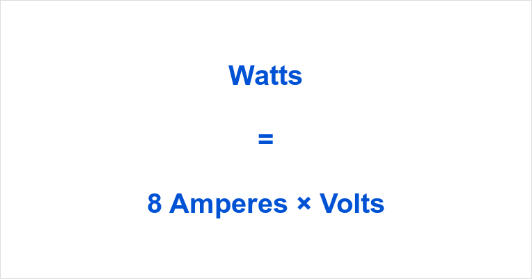 8 Amps to Watts