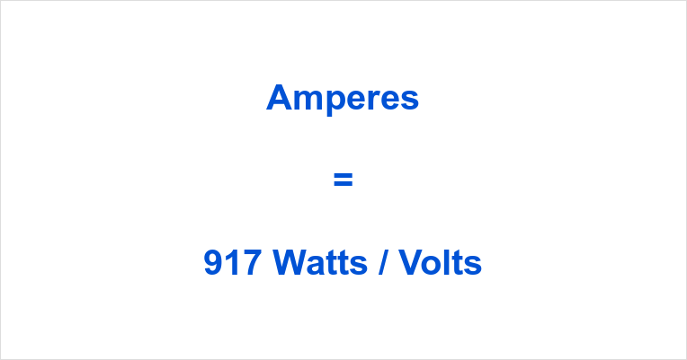 917 Watts to Amps